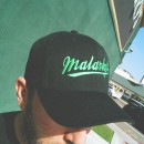 Flex-Fit hat – black and green