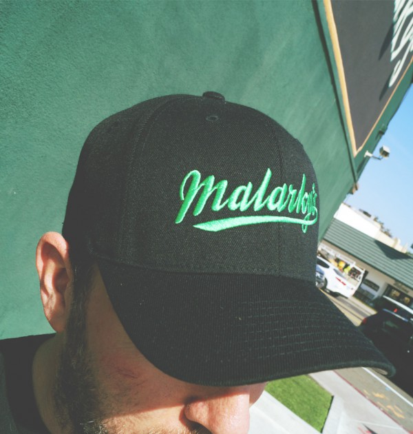 Flex-Fit hat - black and green