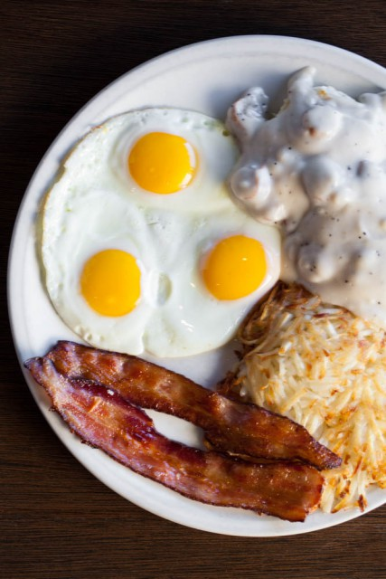 Biscuits and Gravy and Eggs